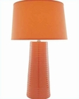 Lite Source Ceramic Table Lamp with Orange Fabric Shade LSF-20830ORN