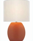 Lite Source Ceramic Table Lamp w/ Orange White Reiko LS-21506ORN