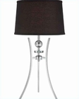 Lite Source Chrome Black with Fabric Shade Table Lamp LS-22096C-BLK