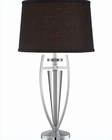 Lite Source Chrome Black w/ Triocof Table Lamp LS-22095C-BLK