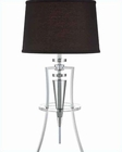 Lite Source Chrome with Black Fabric Shade Table Lamp LS-22097C-BLK