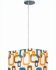 Lite Source Chrome with Fabric Shade Boogaloo Pendant Lamp LS-1940