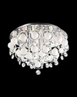 Lite Source Crystal Flush Mount Lamp with Crystals Type LS-EL-50078