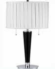 Lite Source Danika Table Lamp Chrome with White Fabric Shade LS-2518