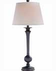 Lite Source  Bronze Finished Linen Menefer Table Lamp LSF-21292