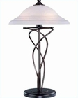 Lite Source  Bronze w/ Cloud Glass Shade Table Lamp LS-3640D-BRZ