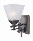 Lite Source Dark Bronze with Frost Glass Shade Wall Lamp LS-16761