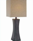 Lite Source  Walnut Finish Linen w/ Enkel Table Lamp LSF-21330
