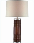 Lite Source  Walnut PS Beige Fabric Shade Daniela Table Lamp LS-22092