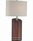 Lite Source Dark Walnut PS Beige Fabric Shade Elda Table Lamp LS-22090