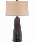Lite Source  Walnut w/ Finished Beige Shade Table Lamp LSF-21583
