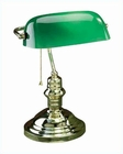 Lite Source Desk Task Lamp in Green Glass Shade LS-224Pb