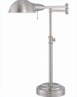 Lite Source Desk Task Swing Arm Desk Lamp LS-21225PS