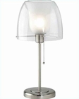 Lite Source Double Glass PS with Frost Inner Table Lamp LS-3955PS-FRO