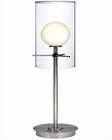 Lite Source Double Glass Table Lamp PS Frostner Glass LS-2149PS-FRO