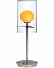 Lite Source Double Glass Table Lamp PS Orangener Glass LS-2149PS-ORN