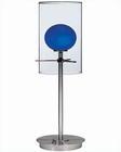 Lite Source Double Glass Table Lamp w/ Glass Burst LS-2149PS-BLU