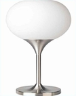 Lite Source Flare Table Lamp PS with Frost Glass Shade LS-2533PS-FRO