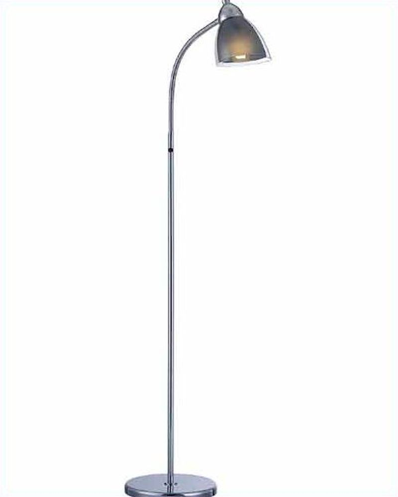 Lite source floor lamp in chrome smoke acrylic shade ls 81614c smoke aloadofball Gallery