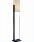 Lite Source Floor Lamp in Dark Bronze/Fabric Shade Corsair LS-81708