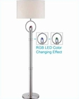 Lite Source Floor Lamp in PS/Fabric Shade Tazia LS-82136