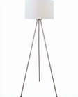 Lite Source Floor Lamp in PS/White Fabric Shade Tullio LS-82065