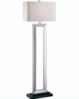 Lite Source Floor Lamp, Silver LS-80822SIL-WHT