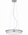 Lite Source Fluor Ceiling Lamp Silver w/ White Acrylic LS-19396SIL-WHT