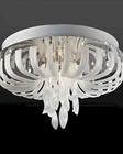 Lite Source Glass in Flush Mount Lamp w/ Frost Glass Type LS-EL-50080