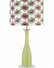 Lite Source Green Glass Body Color Printed Shade Table Lamp LS-2687GRN