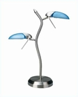Lite Source Halogen 2 Lites Dancer Table Lamp LS-309PS-L-BLU