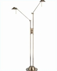 Lite Source Halogen Double Lite Floor Lamp Rhine LS-8637AB
