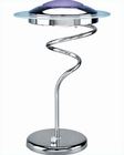 Lite Source Halogen Table Lamp with Chrome Blue Hurricane LS-3599C-BLU