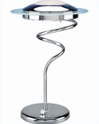 Lite Source Halogen Table Lamp w/ Chrome Frost Hurricane LS-3599C-FRO
