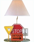 Lite Source Highway Signs Table Lamp LS-3HS20106