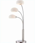 Lite Source in 3 Lites PS Frost Glass Shade Table Lamp LS-21673PS-FRO