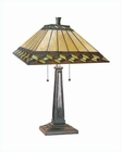 Lite Source in A. Brz Inglenook Tiffany Shade Table Lamp LS-21767