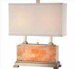 Lite Source in Ab with Marble Body Quinn Table Lamp LS-EL-30043