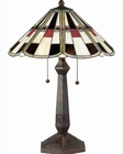 Lite Source in Ant. Brown with Minsk Table Lamp LS-C4585