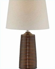 Lite Source Black Ceramic Body Black Fabric Table Lamp LS-21985