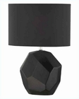 Lite Source Black Ceramic Body Black Fabric Table Lamp LS-21983BLK
