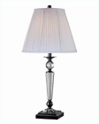 Lite Source Black Chrome Pleated Fabric Sherine Table Lamp LSF-22128