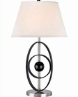 Lite Source in Black Globe Table Lamp LS-20492BLK