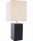 Lite Source in Black Leather Lukman Table Lamp LS-20839BLK-LTR