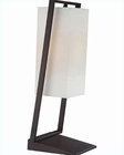 Lite Source in Black with White Fabric Branko Table Lamp LS-22058