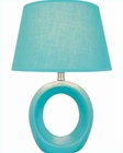 Lite Source in Blue Ceramic Body Table Lamp LS-20585BLU