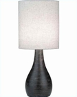 Lite Source in Brushed Dark Brz. Linen Shade Mini Table Lamp LS-2996