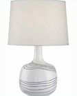 Lite Source in Ceramic Body White Fabric Zerlex Table Lamp LS-21981WHT
