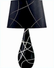 Lite Source in Ceramic Dorotea Table Lamp LS-21018BLK-BLK