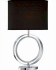 Lite Source in Chrome Black Fabric Shade Cosima Table Lamp LSF-22071